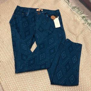 Sanctuary blue print skinny jeans